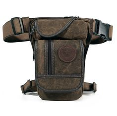 New Men's Canvas Hip Belt Bum Fanny Pack Waist Thigh Leg Drop Bag Tactical Military