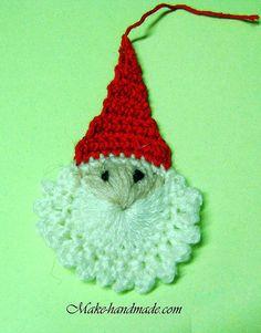 christmas crafts ideas: easy santa crochet tutorial | make handmade, crochet, craft