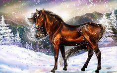 Лошади с синий сыр