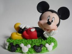Mickey Mouse Adorno Para Torta En Porcelana Fria - $ 160,00