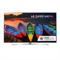 Super UHD Smart TV w/ webOS Super UHD Not all UHD TVs are the same. LG SUPER UHD TVs provide a superior viewing experience by incorporating several advanced technologies: Color Prime Tr. Smart Tv 4k, Lg 4k, Blu Ray Player, Led Televisions, Led Tvs, 4k Ultra Hd Tvs, Gadgets, Lg Electronics, Hd Led