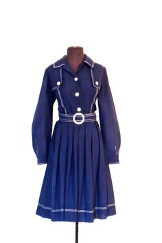 Vintage nautical belted dress https://www.etsy.com/listing/489234469/vintage-nautical-belted-dress-1960s