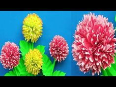 Beautiful Paper Flower Making Easy/DIY/Paper craft/Paper art/Shaded Paper Flower - YouTube Vj Art, How To Make Paper Flowers, Flower Making, Diy Paper, Make It Simple, Easy Diy, The Creator, Channel, Arts And Crafts