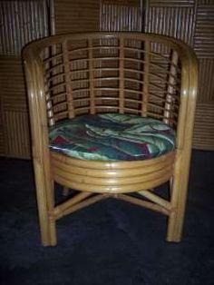 Rattan Hawaiian Vintage Style Barrel Chair