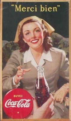 vintage Canadian coke nurse poster 1945