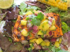 Chili Lime Salmon andMangoSalsaSalad