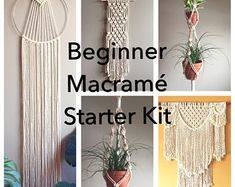 12 DIY Christmas Decorations You can Make Today Macrame Plant Hanger Patterns, Macrame Plant Hangers, Macrame Patterns, Diy Arts And Crafts, Diy Crafts, Yarn Crafts, Recycling For Kids, Macrame Knots, How To Macrame