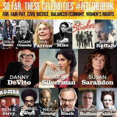She has has had some big names thrown behind her. So have we. #FeelTheBern #Bernie2016