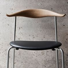 Hans J.Wegner first designed the CH88 Chair in 1955 and it has been stuck in prototype status until now. The Wegner CH88T Stackable Chair combines wood, chrome and leather to make one good looking chair. Upholstered seat.Chrome frame. Manufactured by Carl Hansen & Son. (in): 30.1 h | 17.5 d | 22.4 w | seat: 17.5 h. Please allow 7-10 days for shipping.