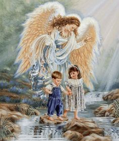 """The Guardian Angels of life fly so high as to be beyond our sight, but they are always looking down upon us."""
