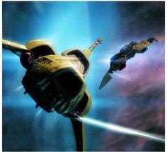 Colonial Viper vs Cylon Raider - Battlestar Galactica