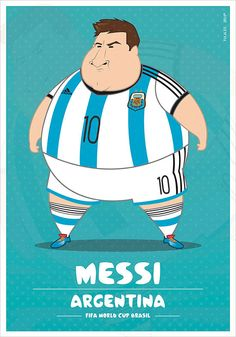 If Football Players Were Sumo Wrestlers   Fat but Flat Designs by Fulvio Obregon