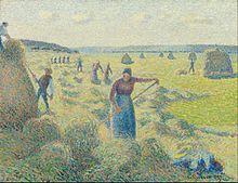 Camille Pissarro - La Récolte des Foins, Eragny (1887)