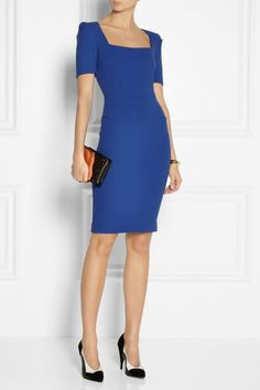 Roland Mouret Pariba Wool-crepe Dress in Blue