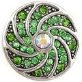 Gambini snaps green crystals spiral with a opal cz