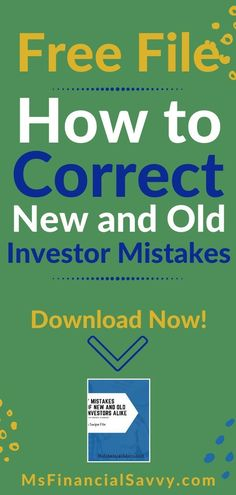 7 mistakes of new and old investors alike is for you if you want to invest right. Learn you can invest in stocks, mutual funds, bonds and more, for savings, 401k, retirement, and long term savings. #investing #investingmoney #investingforbeginners #investingmoneybecomeamillionaire #investingmoneypassiveincome #investingmoneyforbeginnertips #investingmoneyfinancialfreedom #investingmoneystockmarket #mutualfundsforbeginners #bondinvesting #investingforwomen #investormistakes #msfinancialsavvy Investing In Stocks, Investing Money, Saving Money, Investing For Retirement, Debt Repayment, Paying Off Credit Cards, Graphic Quotes, Budgeting Finances, Financial Goals