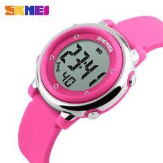SKMEI Children LED Digital Watch Relogio Feminino Sports Watches Kids Cartoon Jelly Relojes Mujer 2016 Waterproof Wristwatches