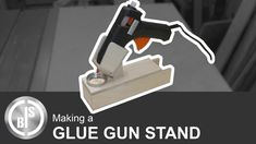 This is a video how i make a stand for my glue gun, with a compartment for glue sticks and a metal bin for catching glue dripping.