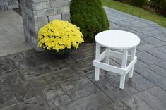 Amish Poly Round Side Table Trust the Poly Round Side Table to serve as the perfect drink table as well as a catch all for phone, tablet, book and more as you relax poolside. #poly
