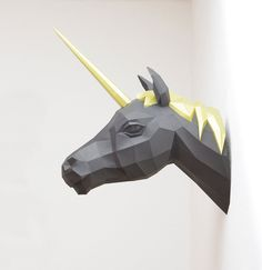 Unicorn Geometric Paper Sculpture - by Wolfram Kampffmeyer.