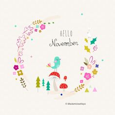 Mademoiselleyo Doodle Lettering, Hand Lettering, Image Positive, Hello November, Planning And Organizing, Calendar Girls, Months In A Year, 12 Months, Journal Pages
