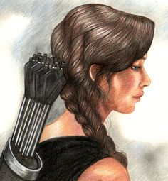 #KatnissEverdeen pencil drawing from #CatchingFire.