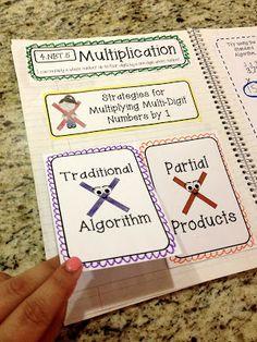 4.NBT.5 - Multiplication interactive notebook