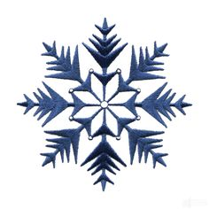 Free Crystal Snowflake Embroidery Design