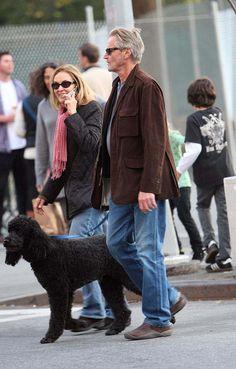 Jessica Lange, Sam Shepard, and Poodle