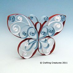 Butterfly Quilling Pattern / Tuturial « Crafting Creatures
