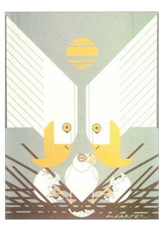 Eagles by Charley Harper