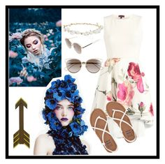 """""""Flowers..."""" by gaellerached on Polyvore featuring Billabong, Christian Dior and Robert Rose"""