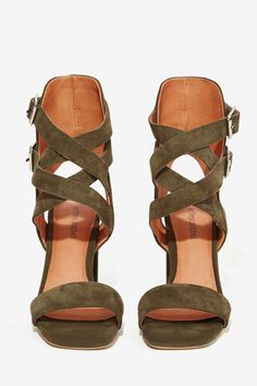Jeffrey Campbell Eudora Suede Heel   Shop Shoes at Nasty Gal!