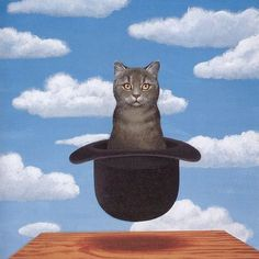 Cat in Hat Rene Magritte
