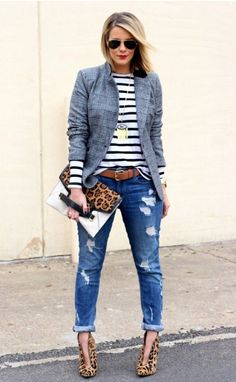 Women's casual, jeans and animal print