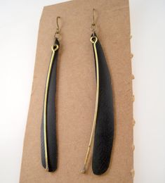 leaf and berry earrings made with recycled bicycle by becktesch, $30.00