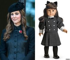 Kate Middleton American Girl doll Samantha  cute article