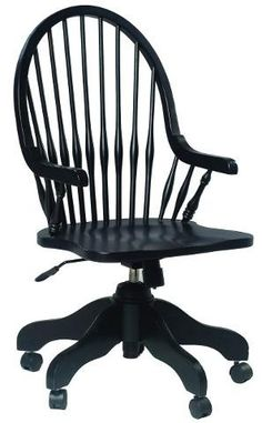 Country Marketplace - Solid Birch Windsor Desk Arm Chair Black, (http://www.countrymarketplaces.com/solid-birch-windsor-desk-arm-chair-black/)