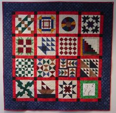 Underground Railroad quilt. 19th century slaves escaping the American South to the Union States and Canada needed maps/ food/ water to help them. The quilts hung out a window- let them know if a house was safe or not.