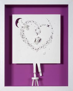 I will give you the moon    Paper cut and paper by ArtPapier, $7.00