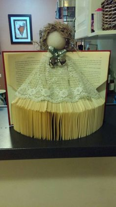 Angel Folded Book Art Decor