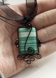 wire wrap square cabochon - Google Search