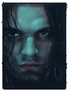 """bohemiannihil: """" Finally, done! :3 A little emotional Bucky Barnes - Winter Soldier fanart by me. I loved to paint this, but in a first few hour i felt panic. After that i've found catched the style,..."""