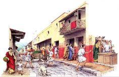 a Roman street by Richard Bonson