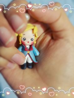Le petit prince / Little prince necklace Fondant Baby, The Little Prince, Pasta Flexible, Cold Porcelain, Biscuit, Polymer Clay, Etsy Seller, Christmas Ornaments, Holiday Decor