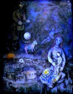 Marc Chagall, La famille #marcchagall #Marc-Chagall #Chagall http://www.johanpersyn.com/chagall-cubist-colours//