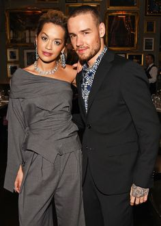 Liam with Rita Ora at BritishGQ dinner for the Men's fashion week in London - 8/1