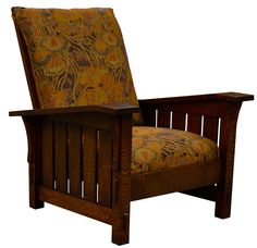 Stickley #369 Slant Arm Morris Chair, Reproduction