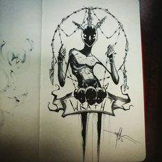 All 7 sins in one section. These are... - Shawn Coss - Artist | Facebook