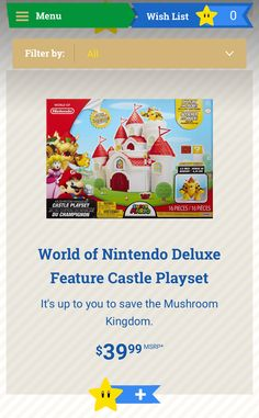 a320558e229 Super Mario Brothers Castle Playset